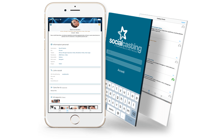 App Mobile iOS e Android SocialCasting